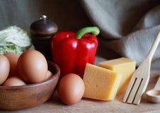 传统烹调食品成分意大利的薄饼 库存图片