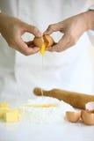 传统烹调食品成分意大利的薄饼 图库摄影