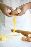 传统烹调食品成分意大利的薄饼 免版税图库摄影