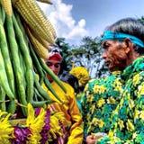 传统爪哇礼节文化 免版税库存图片