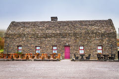 传统爱尔兰村庄房子 库存图片