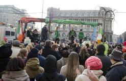 圣徒Patricks天在布加勒斯特11 免版税图库摄影