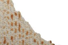 传统犹太假日食物逾越节未发酵的面包 免版税图库摄影