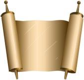 传统犹太摩西五经纸卷 免版税库存照片