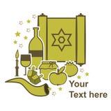 传统犹太标志 免版税库存图片