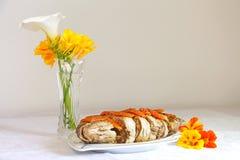 传统犹太食物鱼丸 免版税库存图片