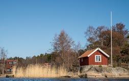 传统瑞典房子 免版税库存照片