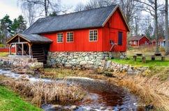 传统瑞典watermill 库存照片