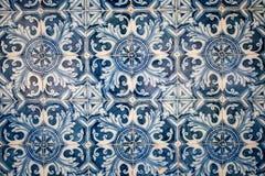 传统瓦片(azulejos),葡萄牙 免版税库存图片