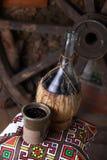 传统瓶酒 免版税库存图片