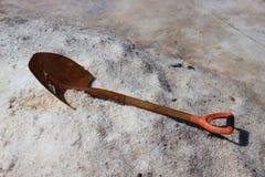 传统生产的盐 库存图片