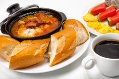 传统的早餐 免版税库存照片