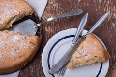 传统的苹果饼 免版税库存照片
