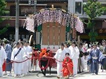 传统碧井节日,京都日本游行  免版税库存图片