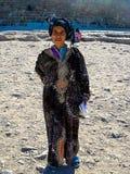 传统礼服的埃及妇女 图库摄影