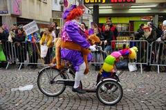 传统科隆狂欢节 免版税库存照片