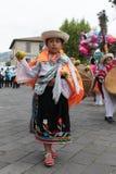 传统穿戴的年轻土产女孩 库存图片