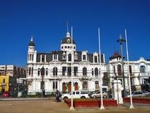 传统建筑在瓦尔帕莱索,智利 库存图片