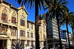 传统建筑在瓦尔帕莱索,智利 库存照片