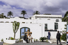 传统建筑在Haria 图库摄影