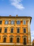 传统建筑学在罗马,意大利 免版税库存图片