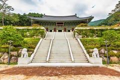 传统建筑学老大厦宫殿在韩国 库存图片