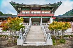 传统建筑学老大厦宫殿在韩国 免版税库存图片