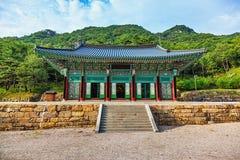 传统建筑学老大厦寺庙在韩国 库存图片