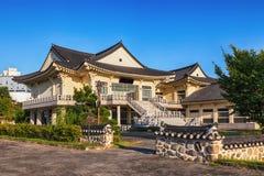 传统建筑学老大厦或寺庙在韩国 库存照片