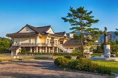 传统建筑学老大厦或寺庙在韩国 免版税库存照片