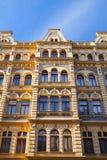 传统建筑惊人的门面细节在布拉格 库存图片