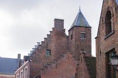 传统建筑,布鲁日,比利时 免版税图库摄影