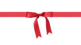 传统红色丝带弓边界 库存图片