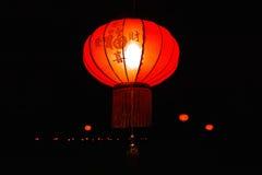 传统红色中国灯 免版税库存照片