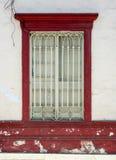 传统红色窗口 图库摄影