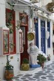传统纪念品店 希腊海岛 库存图片