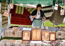 传统罗马尼亚地毯 免版税库存照片