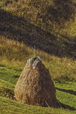 传统罗马尼亚干草堆 图库摄影