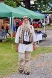 传统罗马尼亚服装 库存照片