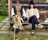传统罗马尼亚服装 免版税库存照片