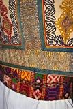 传统罗马尼亚民间服装。细节18 图库摄影