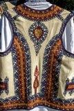 传统罗马尼亚民间服装。细节31 库存照片