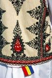 传统罗马尼亚民间服装。细节35 库存图片