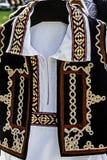 传统罗马尼亚民间服装。细节36 免版税库存图片