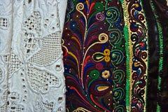 传统罗马尼亚民间服装。细节15 免版税库存照片