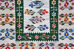 传统罗马尼亚的地毯 免版税库存图片