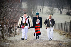 传统罗马尼亚衣物 免版税库存照片