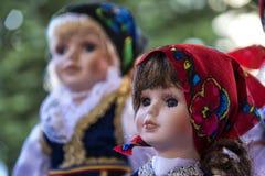传统罗马尼亚陶瓷面孔玩偶 免版税图库摄影