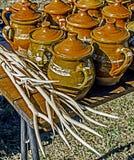 传统罗马尼亚陶瓷5 免版税图库摄影