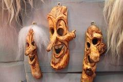 传统罗马尼亚面具 免版税图库摄影